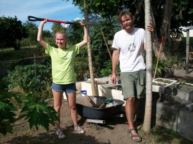 Tools are precious here. We planted a wheelbarrow hoping to grow more