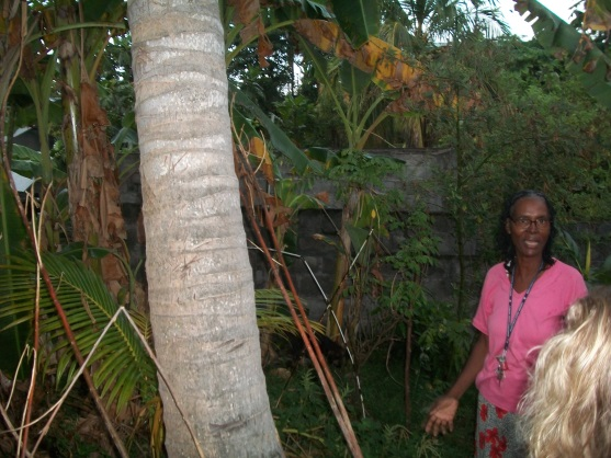Our friend Esther in her garden